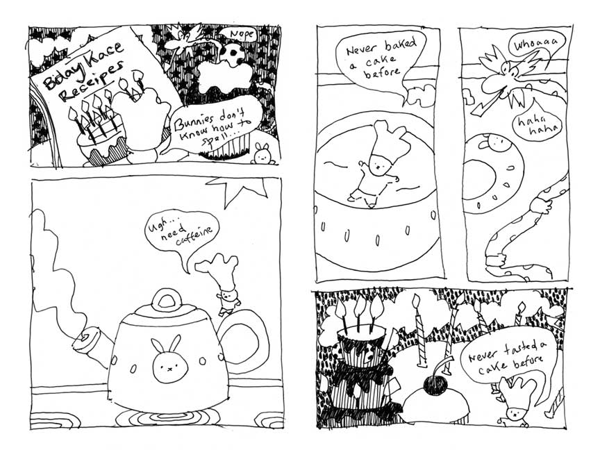 Bunworld: Planet of the Cakes Zine 1 Preview Page 2